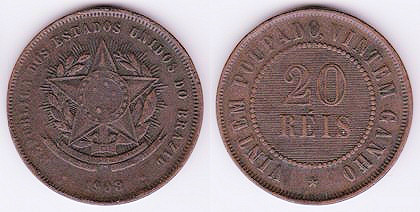 So A Pre 1942 Twenty Reis Coin Is Worth 0 0000000000000000031 U S Unless You Re Collector