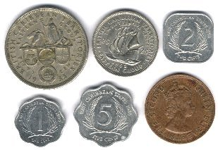 Coin types from the eastern caribbean