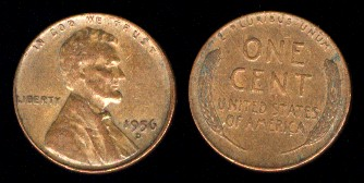 Kma132 1 Cent 1944 1958 Lincoln Wheat Brass