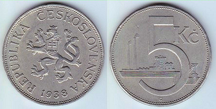 Coin Types from Czechoslovakia