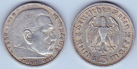 Coin Types From The German Third Reich